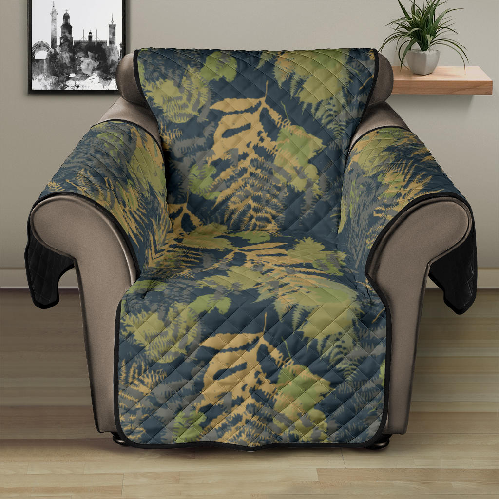 Camouflage Tropical Pattern Print Design 04 Recliner Cover Protector
