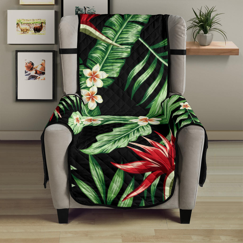 Bird Of Paradise Pattern Print Design BOP05 Armchair Cover Protector