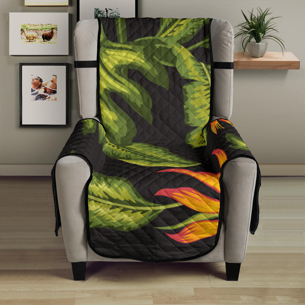 Bird Of Paradise Pattern Print Design BOP013 Armchair Cover Protector
