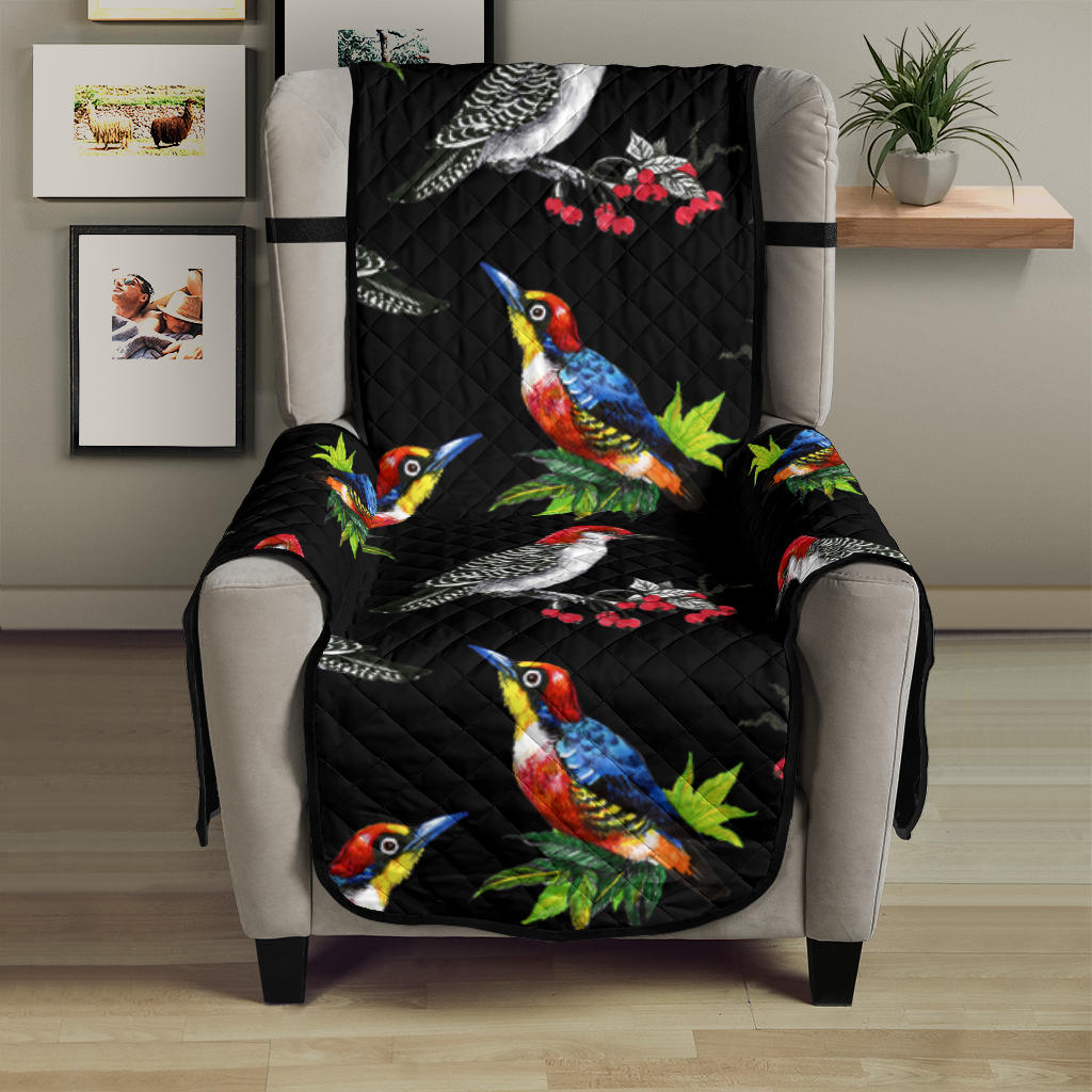 Birds Pattern Print Design 06 Armchair Cover Protector