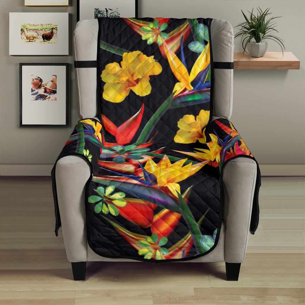 Bird Of Paradise Pattern Print Design BOP016 Armchair Cover Protector