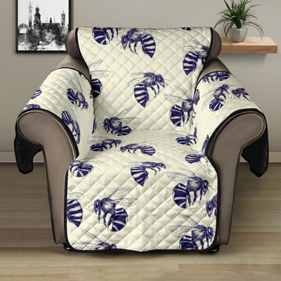 Bee Pattern Print Design 02 Recliner Cover Protector