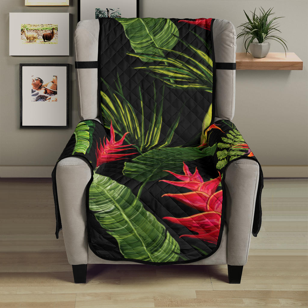 Bird Of Paradise Pattern Print Design BOP010 Armchair Cover Protector