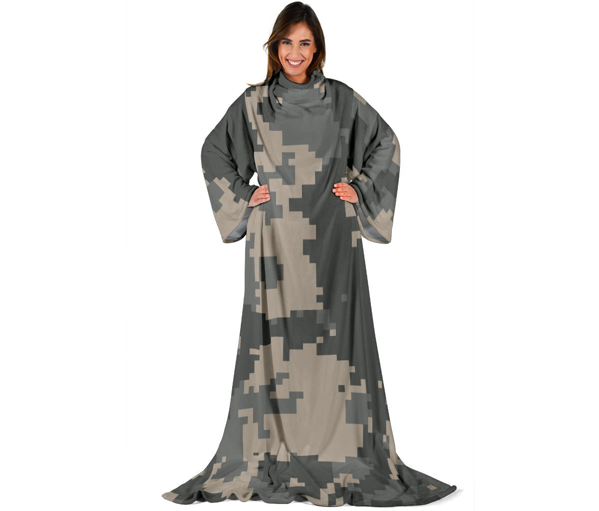 ACU Digital Camouflage Adult Sleeve Blanket