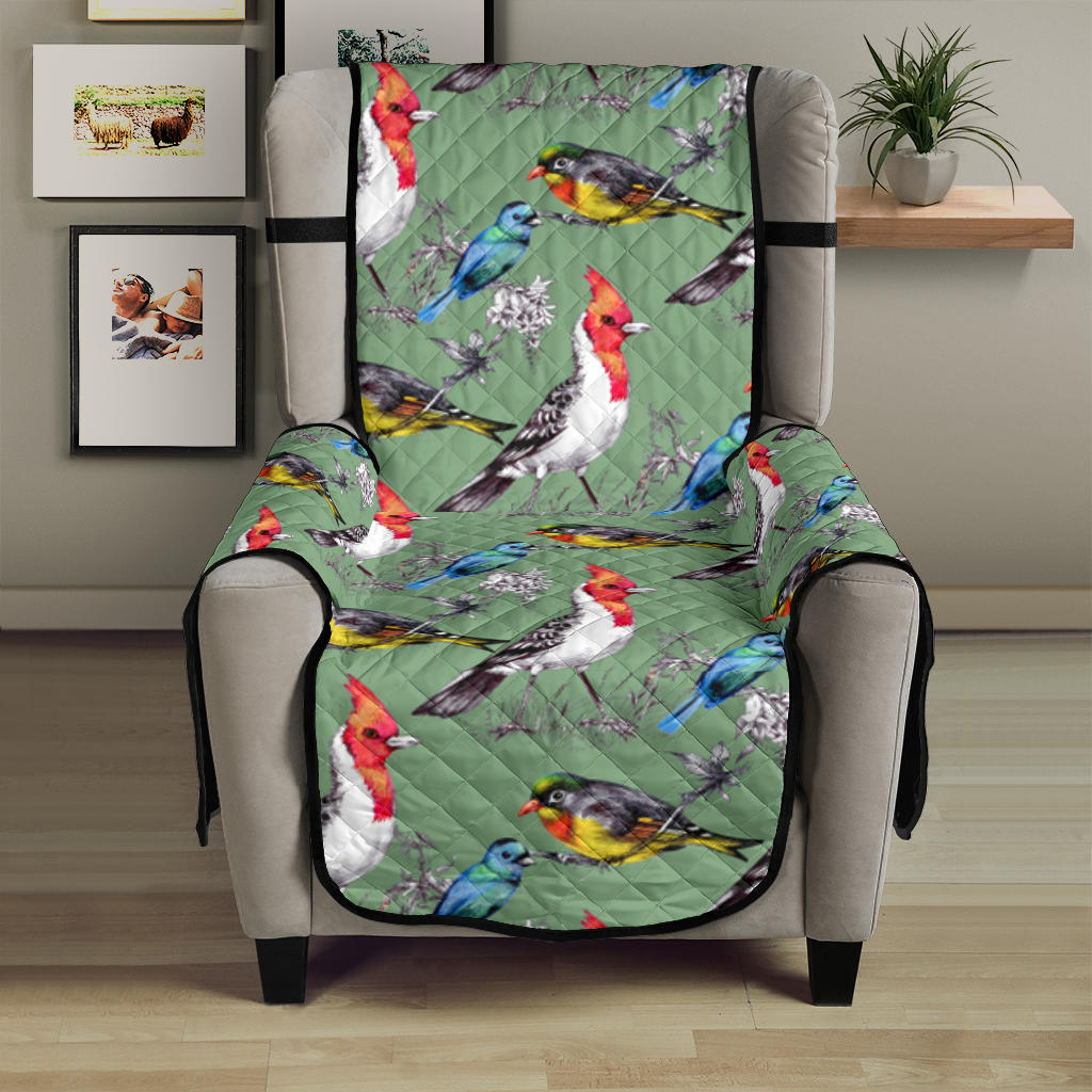 Birds Pattern Print Design 07 Armchair Cover Protector