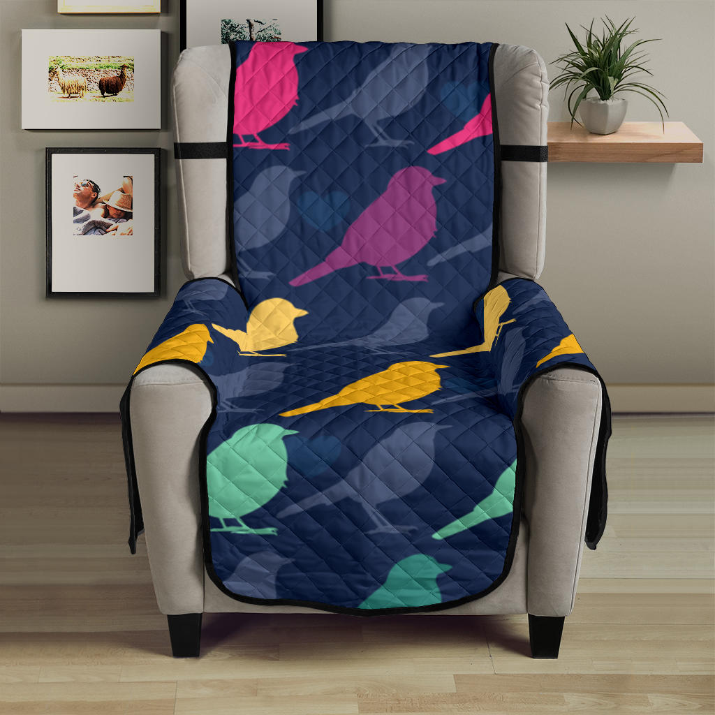 Birds Pattern Print Design 01 Armchair Cover Protector