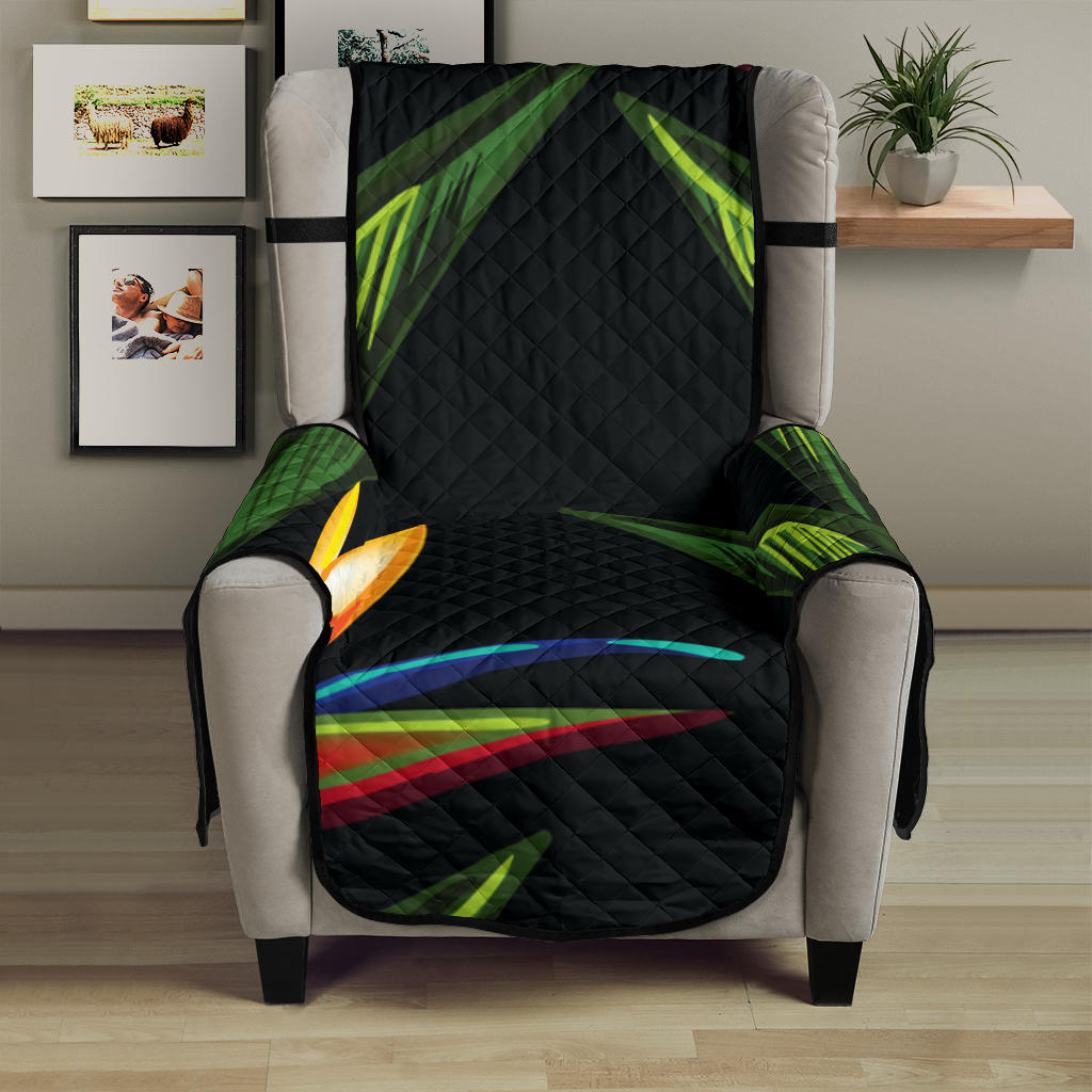 Bird Of Paradise Pattern Print Design BOP012 Armchair Cover Protector