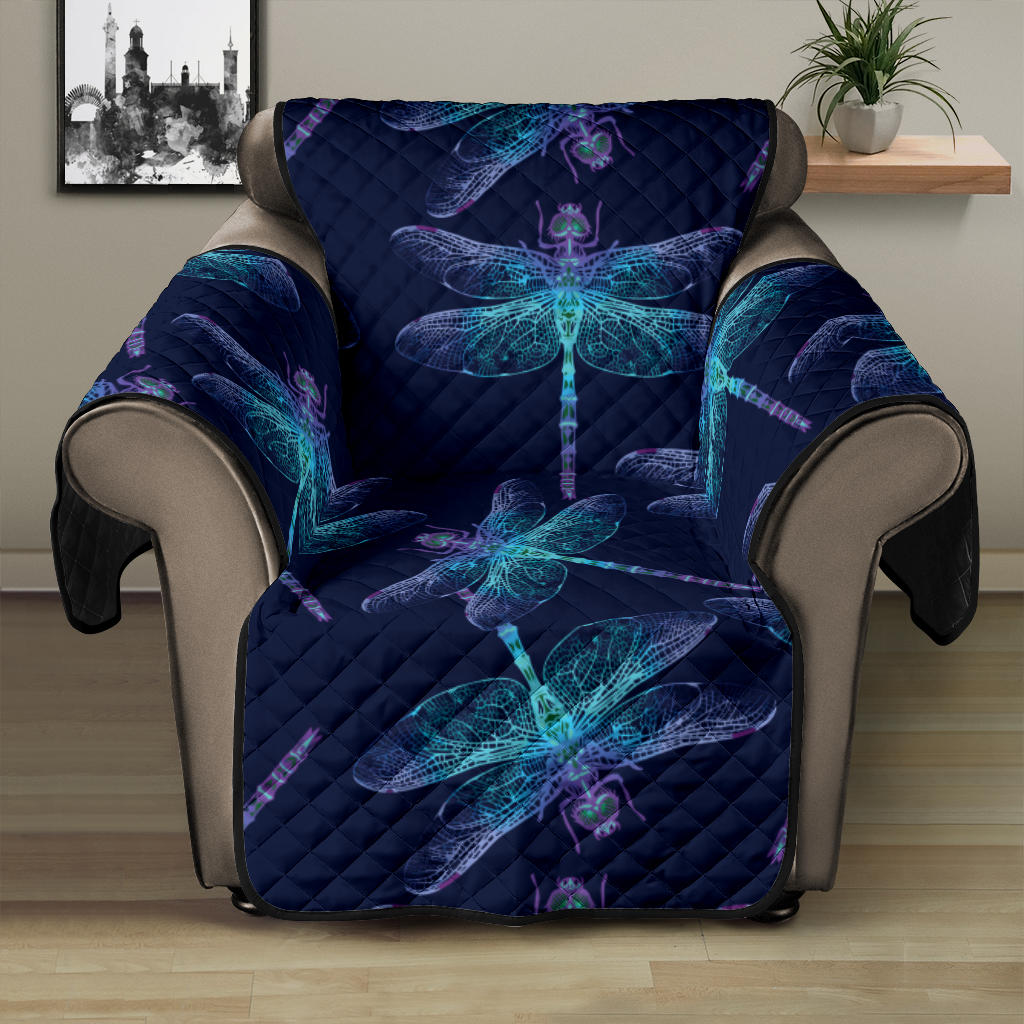 Dragonfly Hand Drawn Style Print Recliner Cover Protector