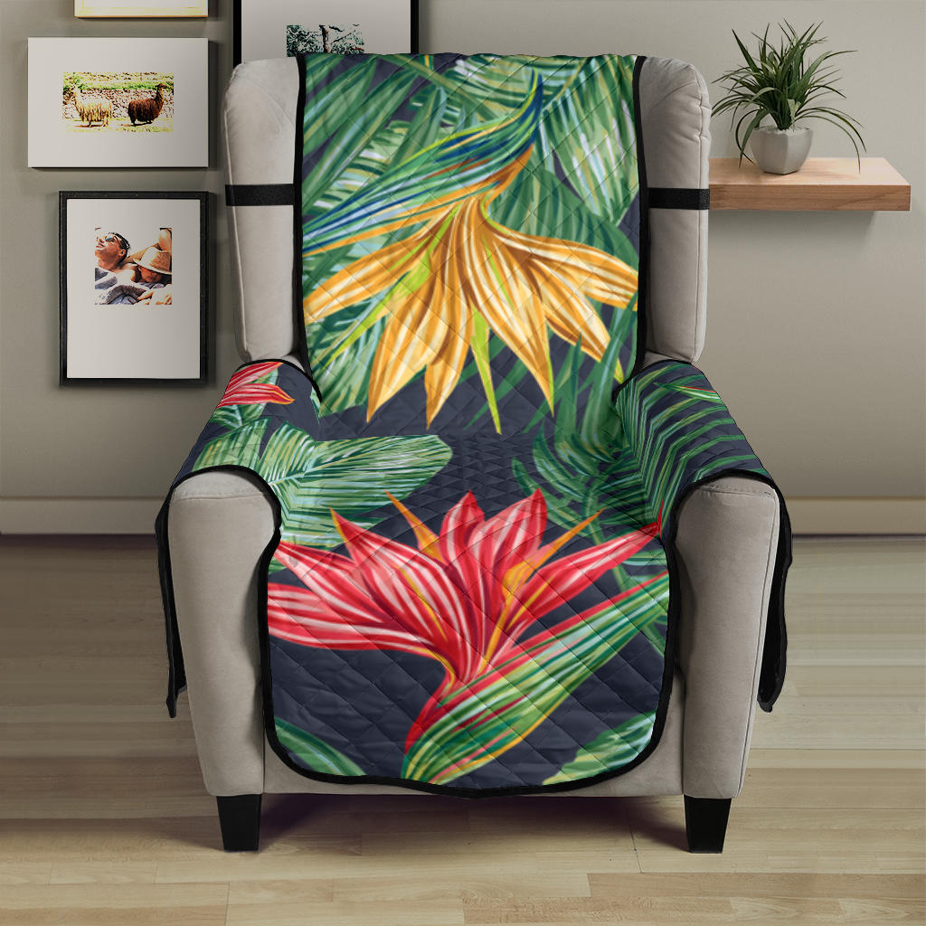 Bird Of Paradise Pattern Print Design BOP09 Armchair Cover Protector