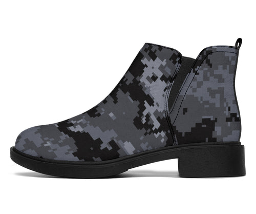 ACU Digital Black Camouflage Ankle Boots