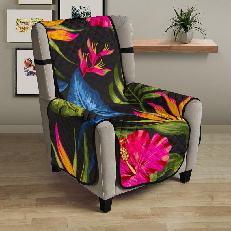 Bird Of Paradise Pattern Print Design BOP014 Armchair Cover Protector