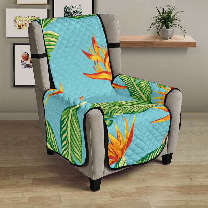 Bird Of Paradise Pattern Print Design BOP04 Armchair Cover Protector