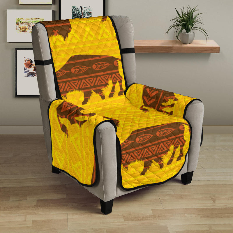 Bison Native Pattern Print Design 01 Armchair Cover Protector