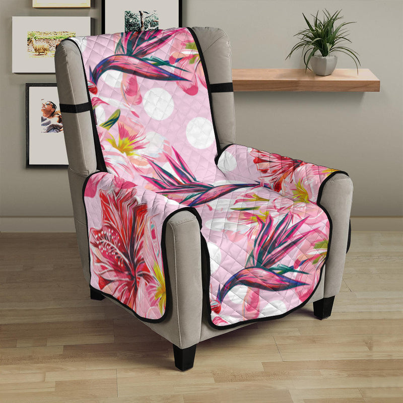 Bird Of Paradise Pattern Print Design BOP011 Armchair Cover Protector