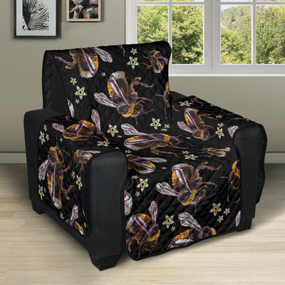 Bee Pattern Print Design 04 Recliner Cover Protector