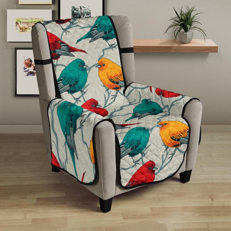 Birds Pattern Print Design 04 Armchair Cover Protector