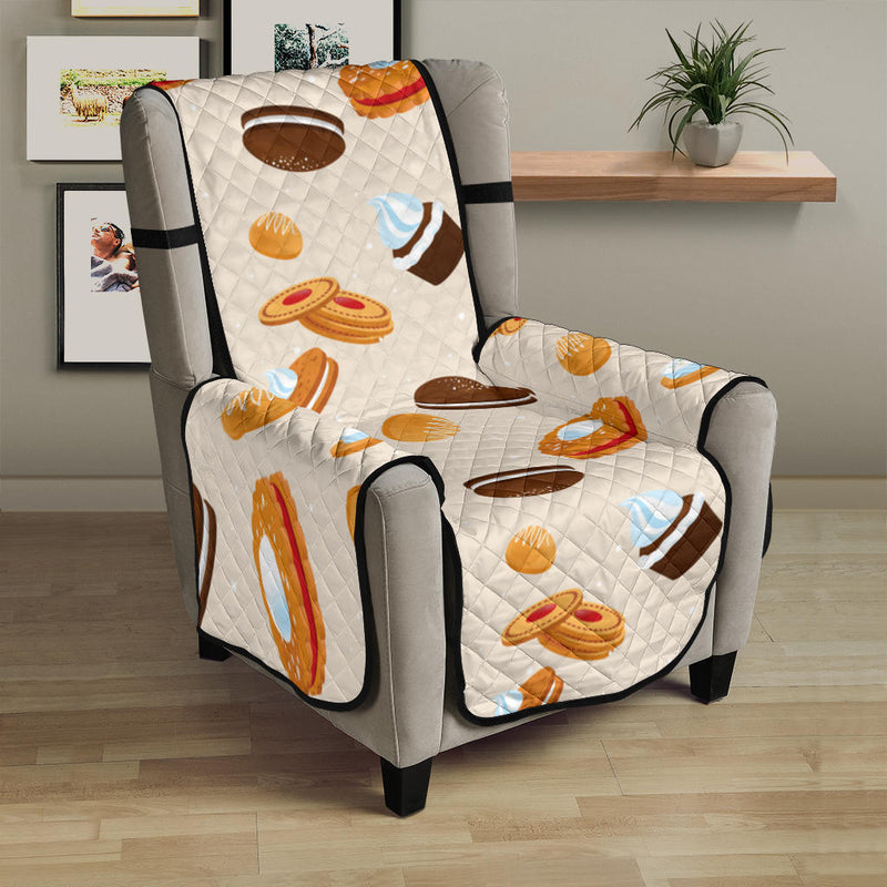 Biscuit Pattern Print Design 01 Armchair Cover Protector