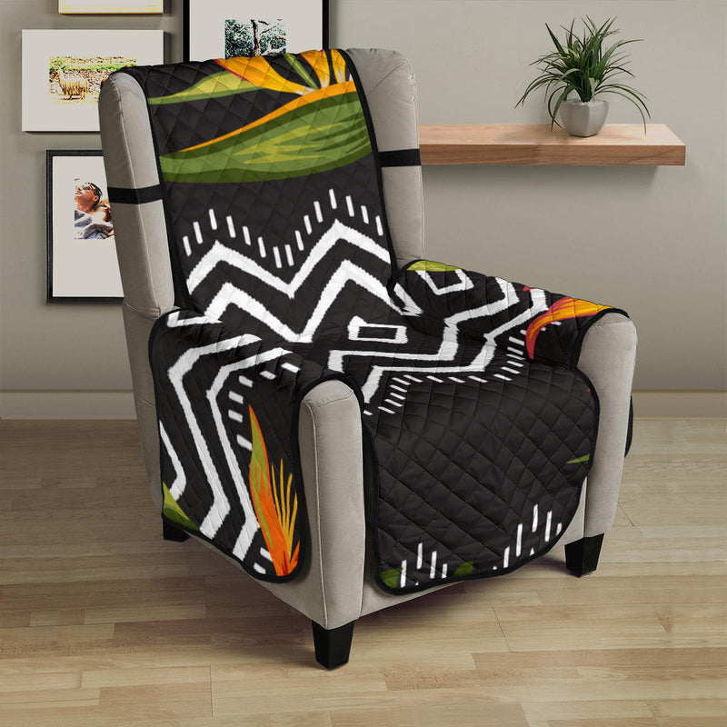 Bird Of Paradise Pattern Print Design BOP07 Armchair Cover Protector