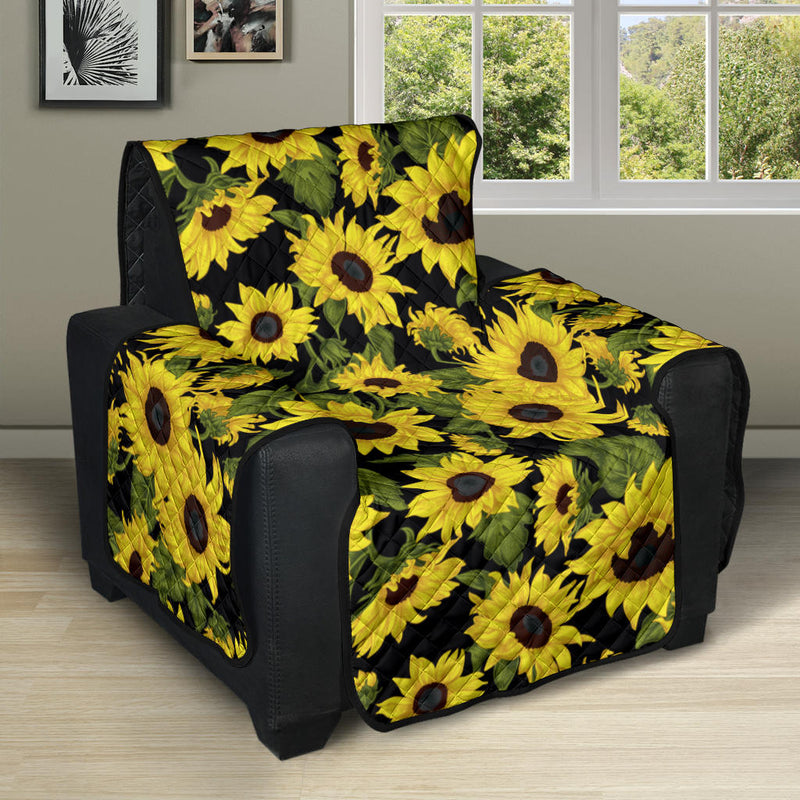 Sunflower Fresh Bright Color Print Recliner Cover Protector