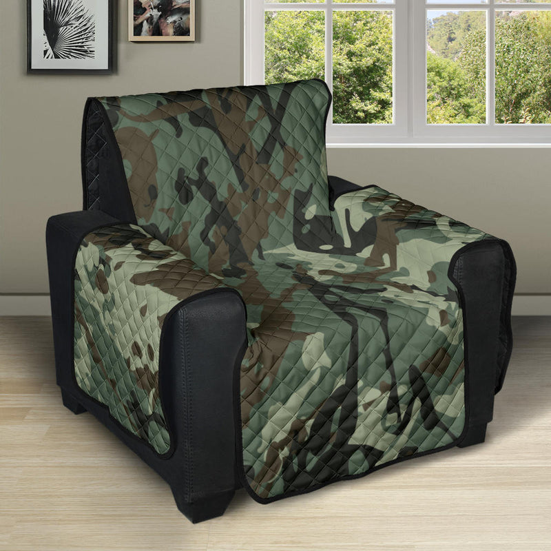 Camouflage Pattern Print Design 06 Recliner Cover Protector