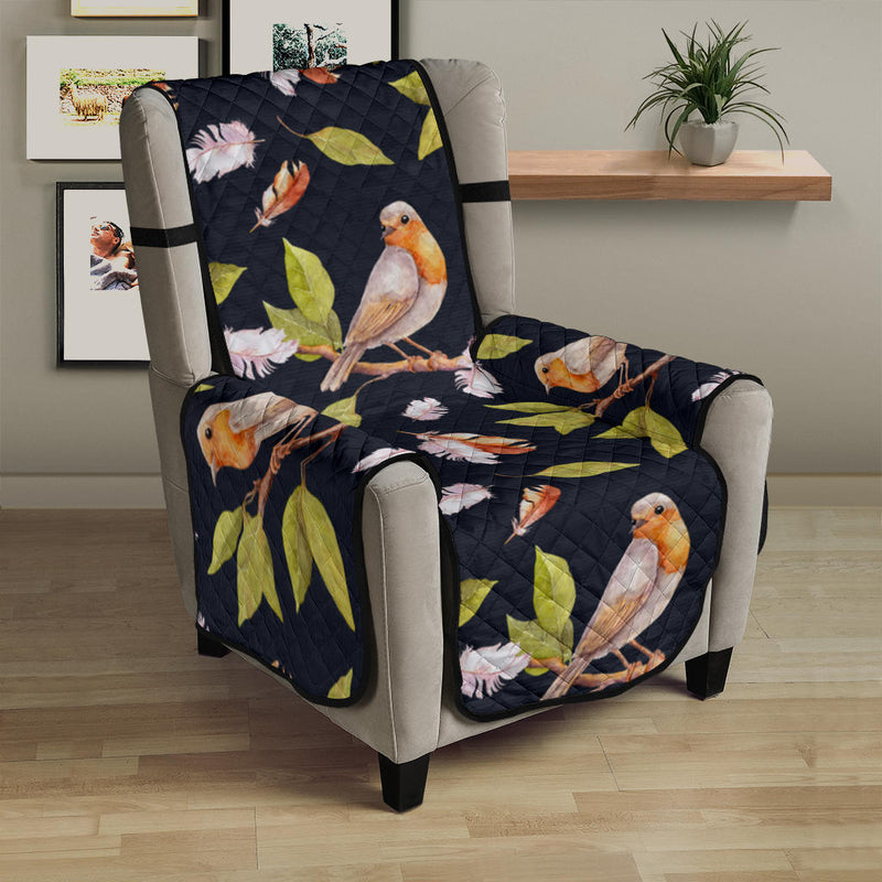 Birds Pattern Print Design 02 Armchair Cover Protector