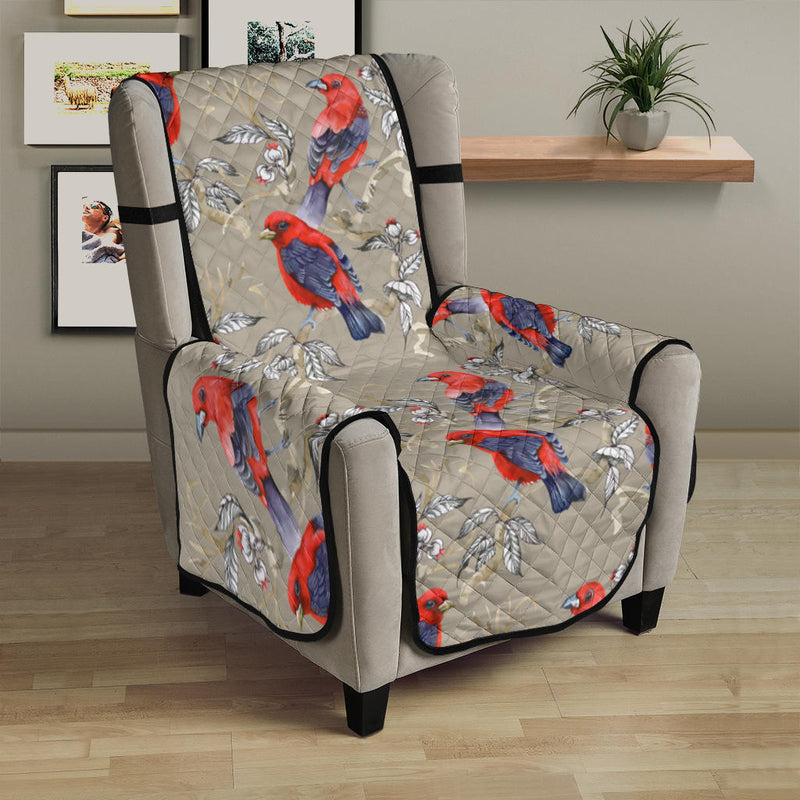 Birds Pattern Print Design 05 Armchair Cover Protector