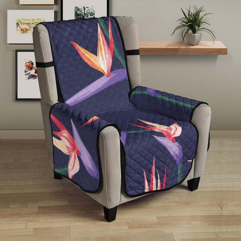 Bird Of Paradise Pattern Print Design BOP015 Armchair Cover Protector