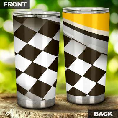 Checkered Flag Racing Style Tumbler