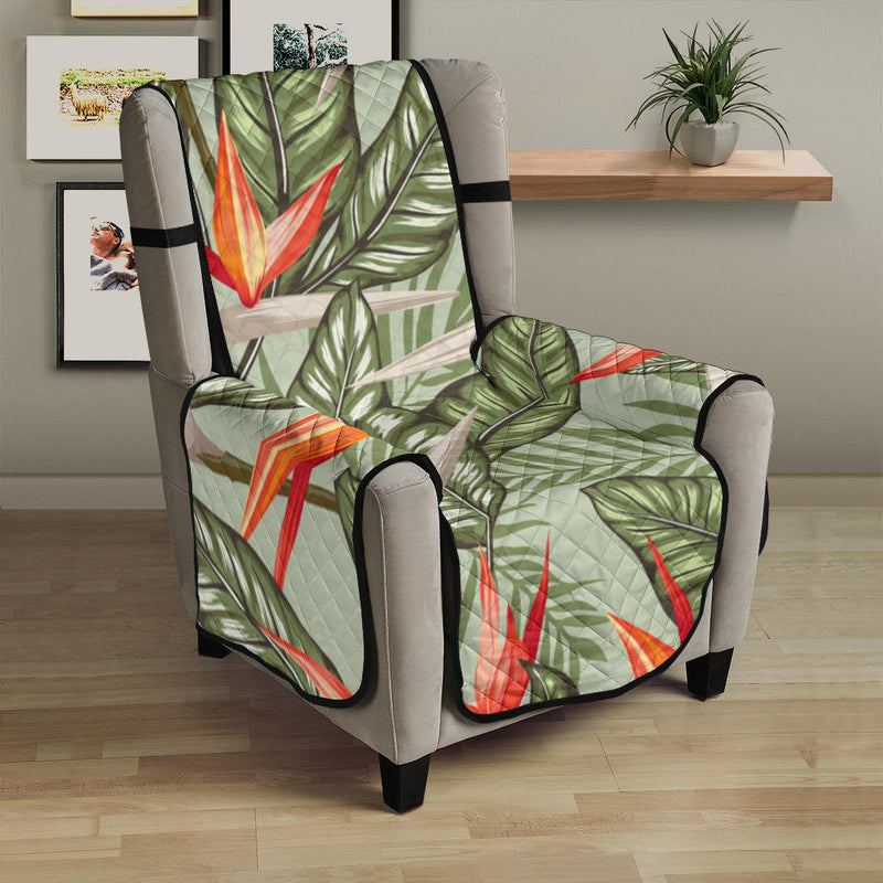 Bird Of Paradise Pattern Print Design BOP08 Armchair Cover Protector