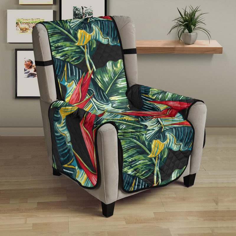 Bird Of Paradise Pattern Print Design BOP06 Armchair Cover Protector