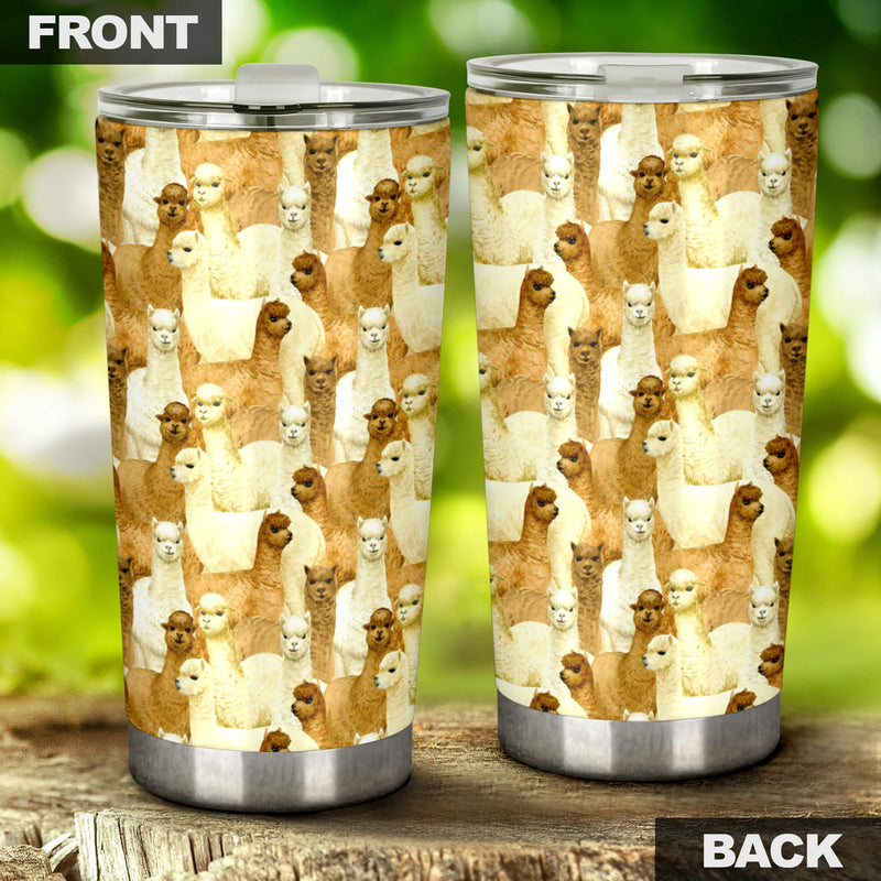 Alpaca Watercolor Design Themed Print Tumbler