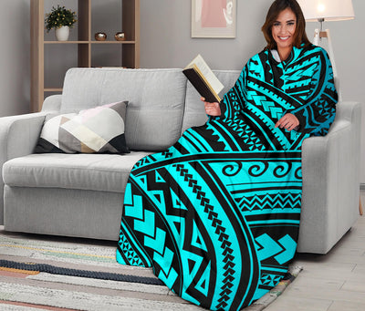 Polynesian Tribal Adult Sleeve Blanket