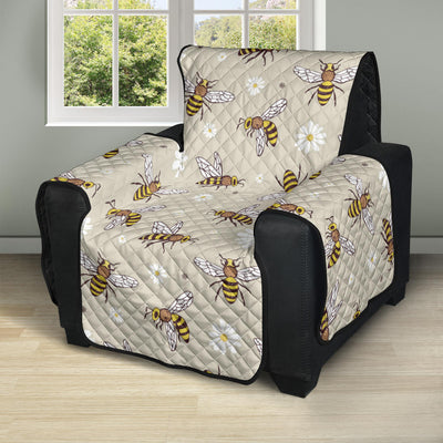 Bee Pattern Print Design 03 Recliner Cover Protector