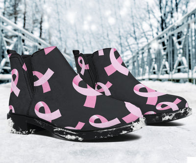 Breast Cancer Awareness Design Ankle Boots