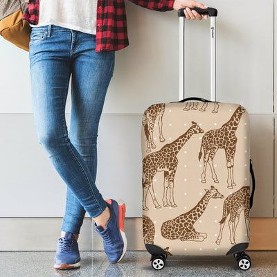 Giraffe Pattern Design Print Luggage Cover Protector