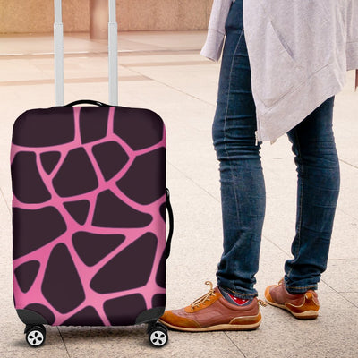 Giraffe Pink Background Texture Print Luggage Cover Protector