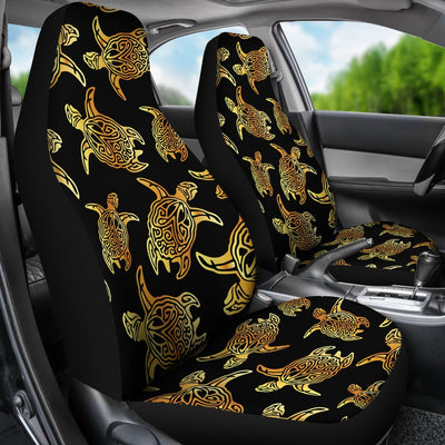 Gold Tribal Turtle Polynesian Themed Universal Fit Car Seat Covers