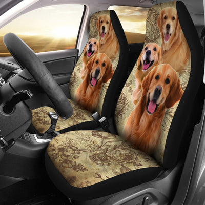Golden Retriever Design No1 Print Universal Fit Car Seat Covers