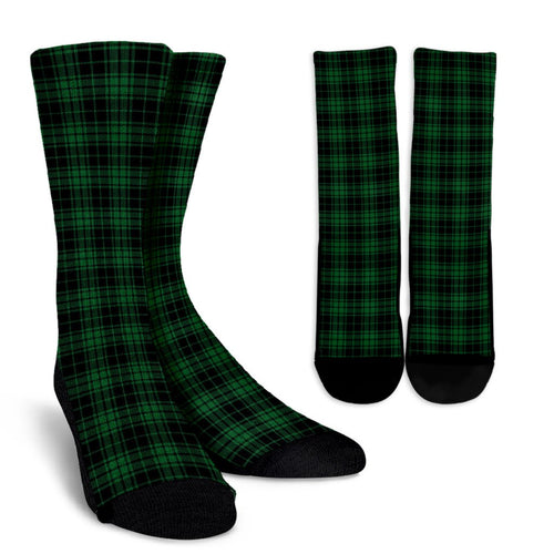 Green Tartan Plaid Pattern Crew Socks