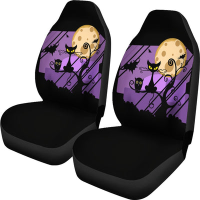 Halloween Cat Design No1 Print Universal Fit Car Seat Covers