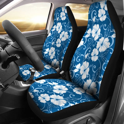 Hibiscus Blue Flower Hawaiian Print Universal Fit Car Seat Covers