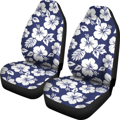 Hibiscus Blue Hawaiian Flower Style Universal Fit Car Seat Covers