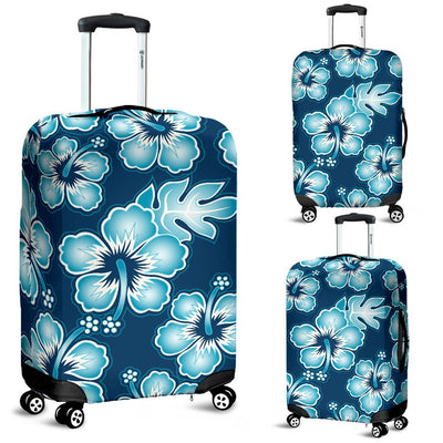 Hibiscus Flower Hawaiian Themed Luggage Cover Protector