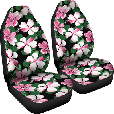 Hibiscus Pink Flower Hawaiian Print Universal Fit Car Seat Covers