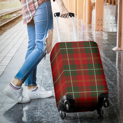 Holiday Tartan Plaid Pattern Luggage Cover Protector