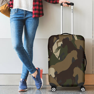 Horse Camo Themed Design Print Luggage Cover Protector