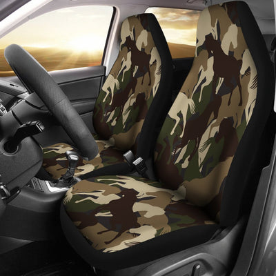 Horse Camo Themed Design Print Universal Fit Car Seat Covers