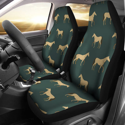 Horse Classic Themed Pattern Print Universal Fit Car Seat Covers