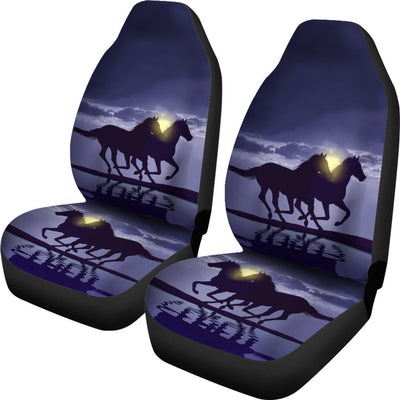 Horse Night Design No3 Print Universal Fit Car Seat Covers