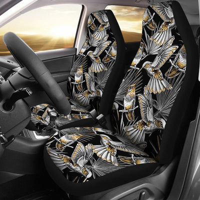 Hummingbird Gold Design Themed Print Universal Fit Car Seat Covers